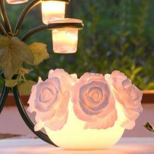 candela boule luminosa Rose