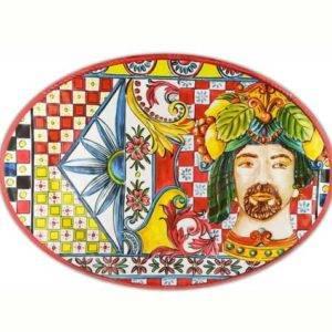 Piatto a servire ovale Baroque & Rock Sicily